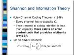 shannon and information theory