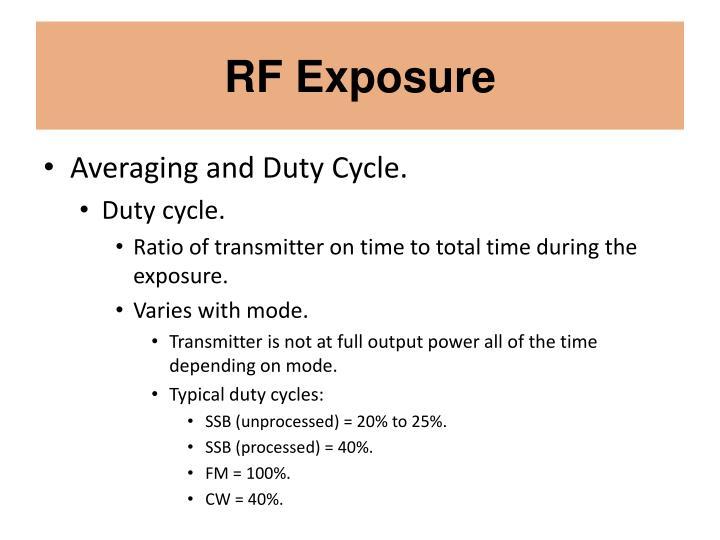 RF Exposure