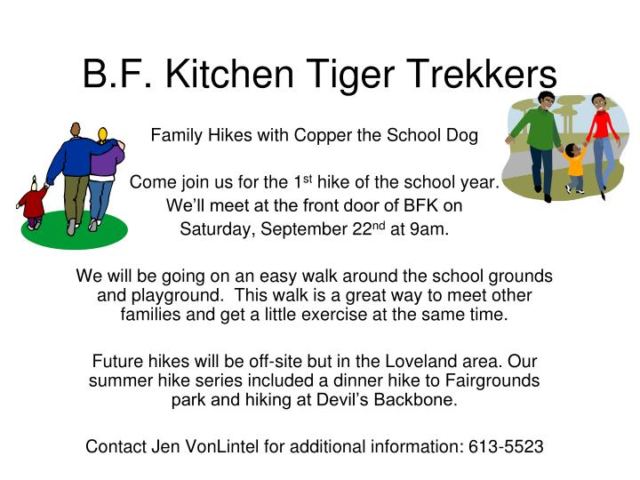 B f kitchen tiger trekkers
