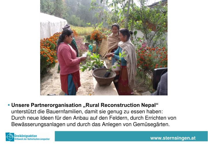 "Unsere Partnerorganisation ""Rural Reconstruction Nepal"""