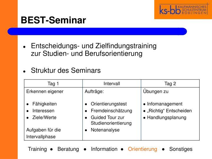BEST-Seminar