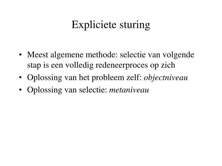 Expliciete sturing