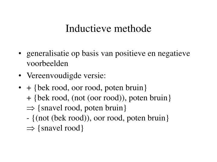 Inductieve methode