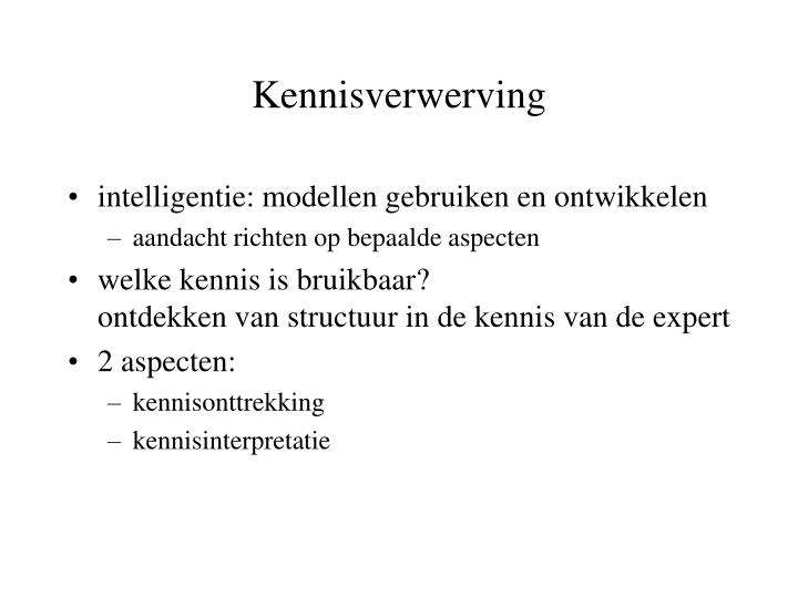 Kennisverwerving