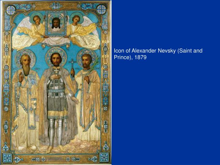 Icon of Alexander Nevsky (Saint and Prince), 1879