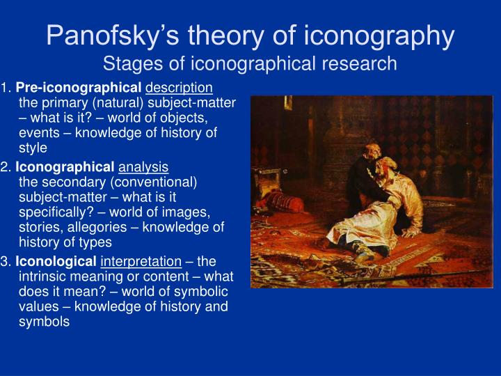 Panofsky's theory of iconography