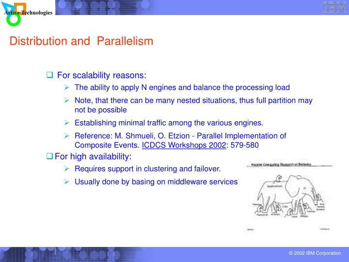 Distribution and  Parallelism