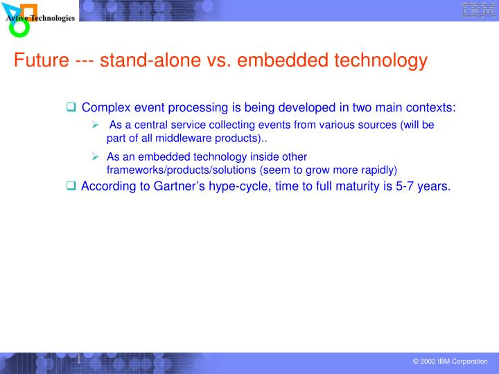 Future --- stand-alone vs. embedded technology
