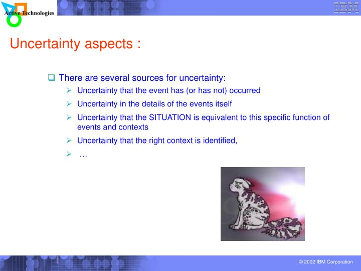 Uncertainty aspects :