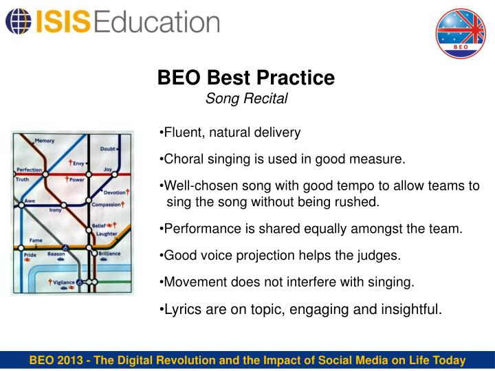 BEO Best Practice