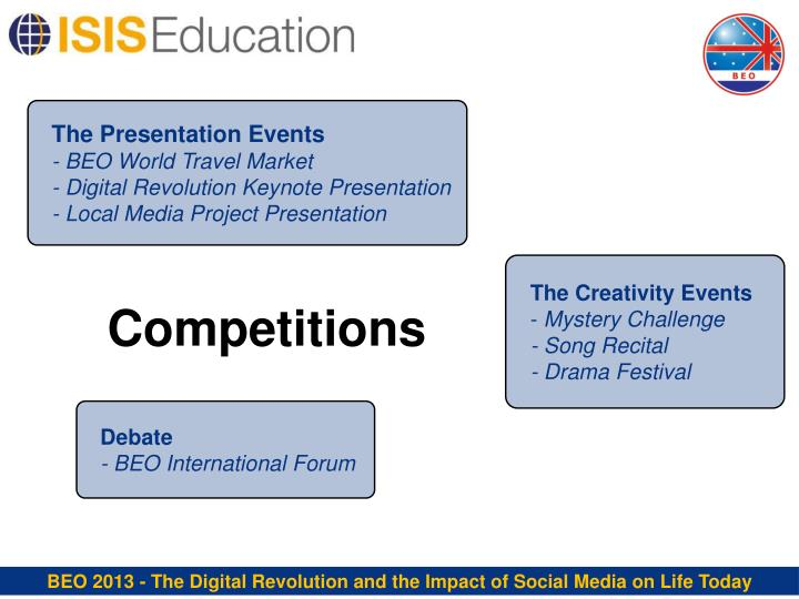 The Presentation Events