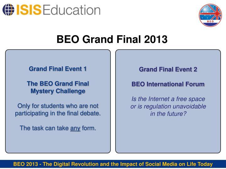 BEO Grand Final 2013