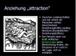 anziehung attraction
