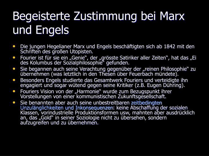 Begeisterte Zustimmung bei Marx und Engels