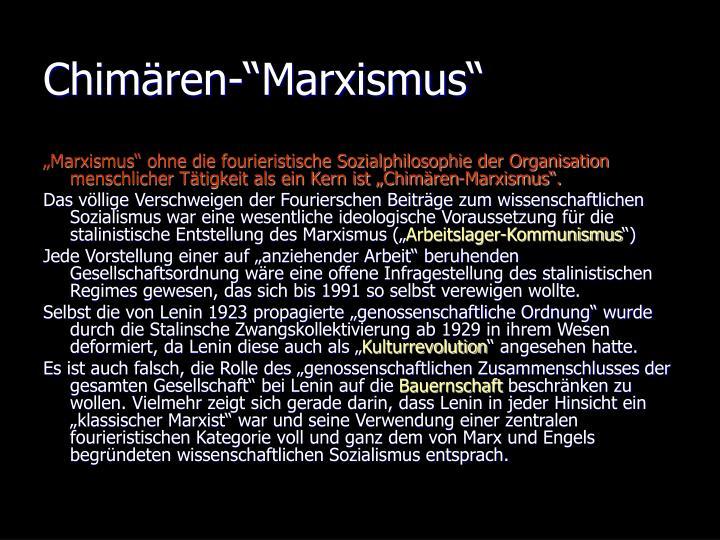 """Chimären-""""Marxismus"""""""