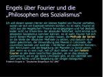engels ber fourier und die philosophen des sozialismus