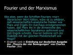 fourier und der marxismus