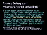 fouriers beitrag zum wissenschaftlichen sozialismus2