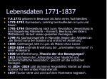 lebensdaten 1771 1837