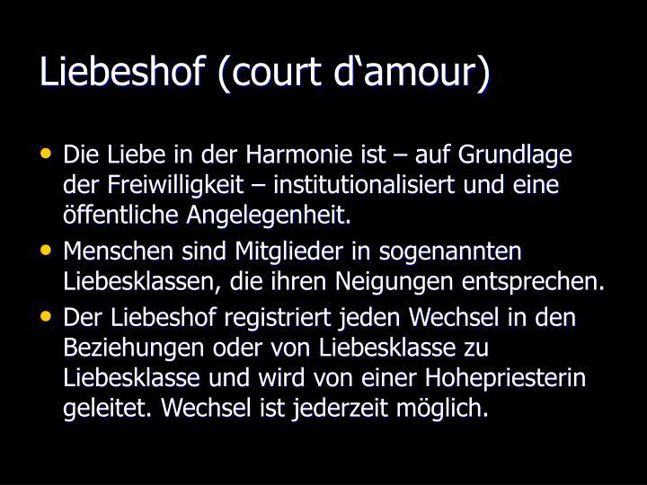 Liebeshof (court d'amour)