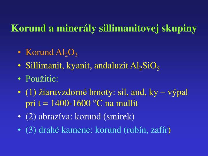 Korund a minerály sillimanitovej skupiny