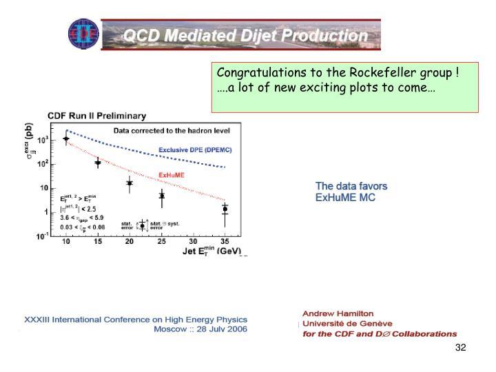 Congratulations to the Rockefeller group !