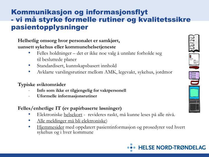 Kommunikasjon og informasjonsflyt