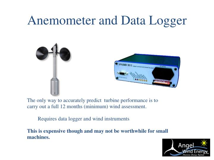 Anemometer and Data Logger