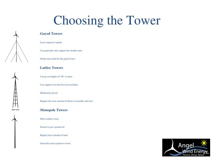 Choosing the Tower