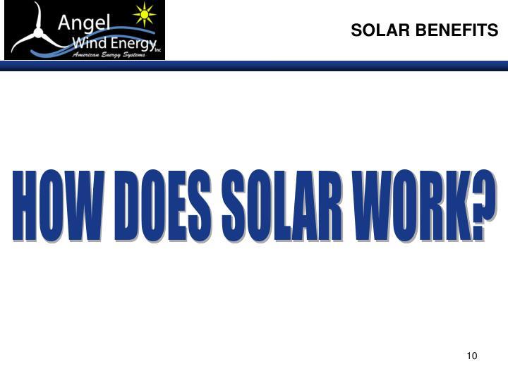SOLAR BENEFITS