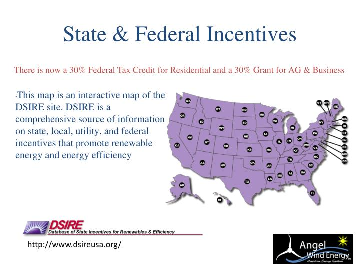 State & Federal Incentives