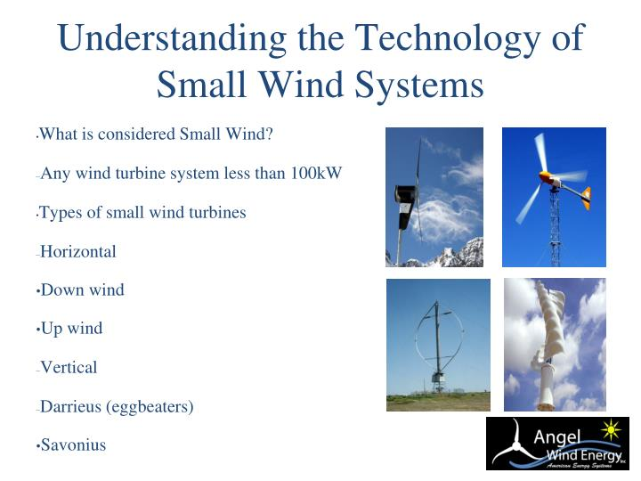 Understanding the Technology of Small Wind Systems