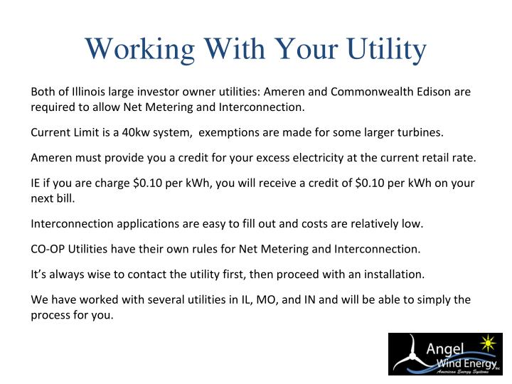 Working With Your Utility