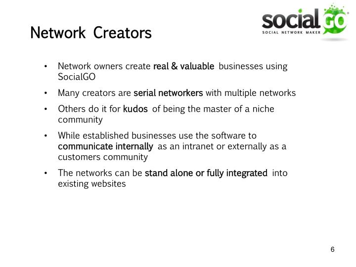 Network owners create
