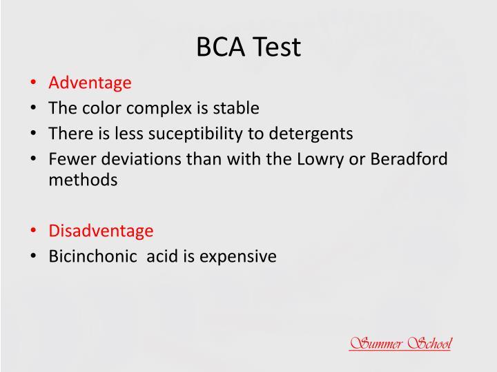 BCA Test