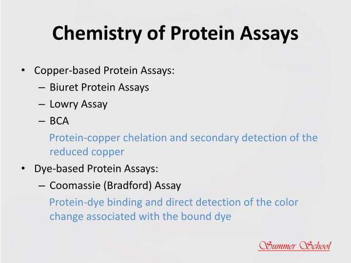 Chemistry of Protein Assays