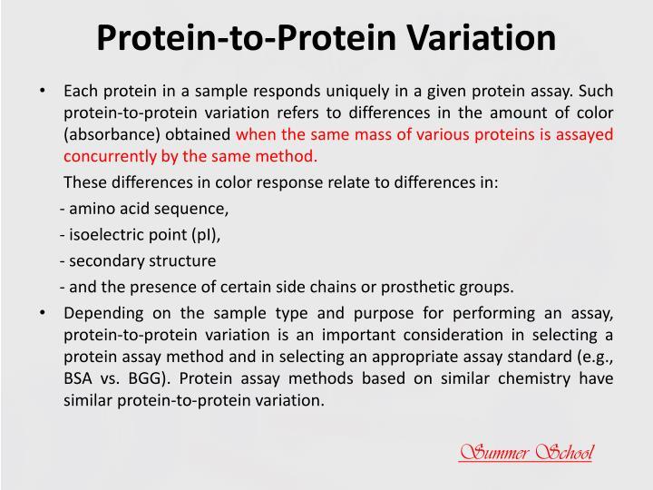 Protein-to-Protein Variation
