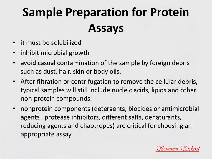 Sample Preparation for Protein Assays