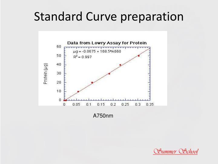 Standard Curve preparation