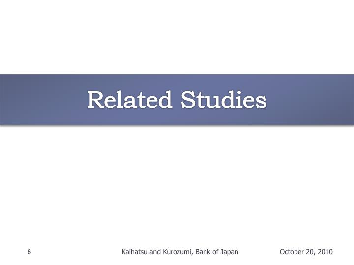 Related Studies