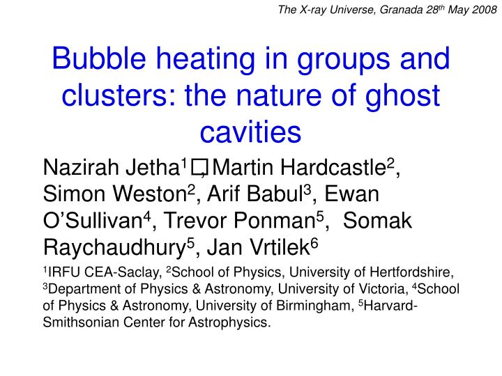 Bubble heating in groups and clusters the nature of ghost cavities