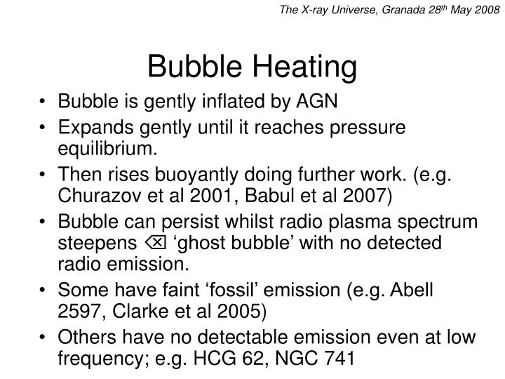 Bubble heating