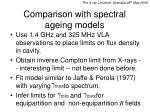 comparison with spectral ageing models