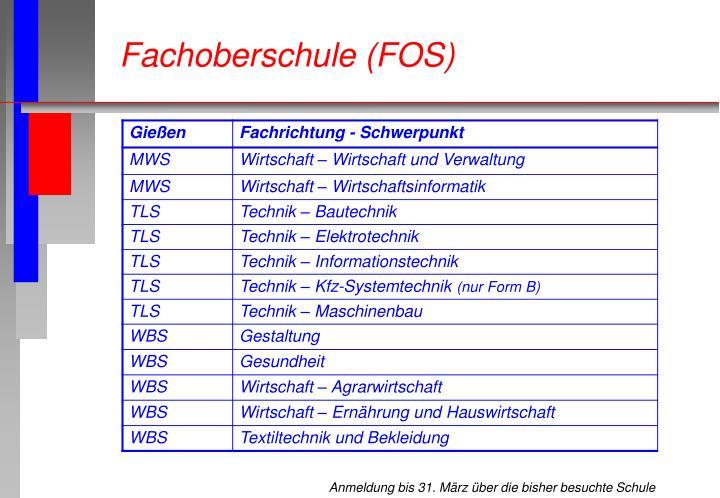 Fachoberschule (FOS)