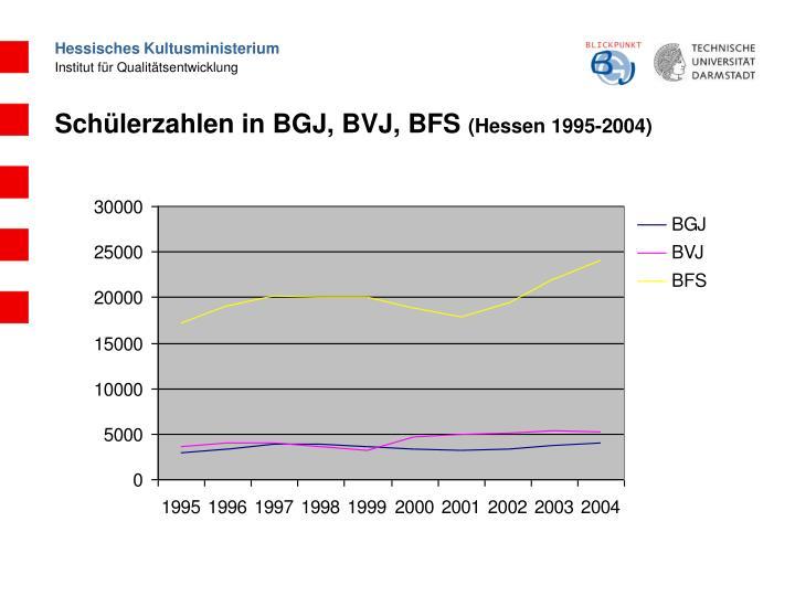 Schülerzahlen in BGJ, BVJ, BFS