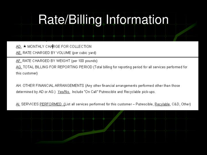 Rate/Billing Information