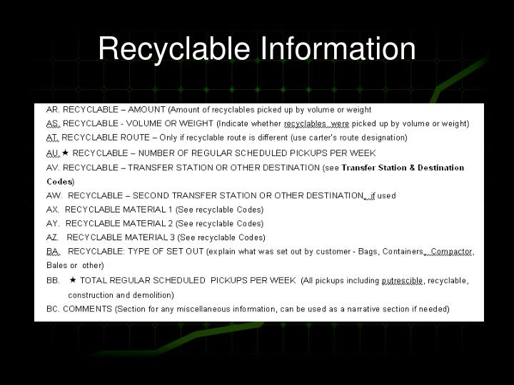 Recyclable Information