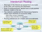 interdomain routing
