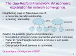 the gao rexford framework an economic explanation for network convergence