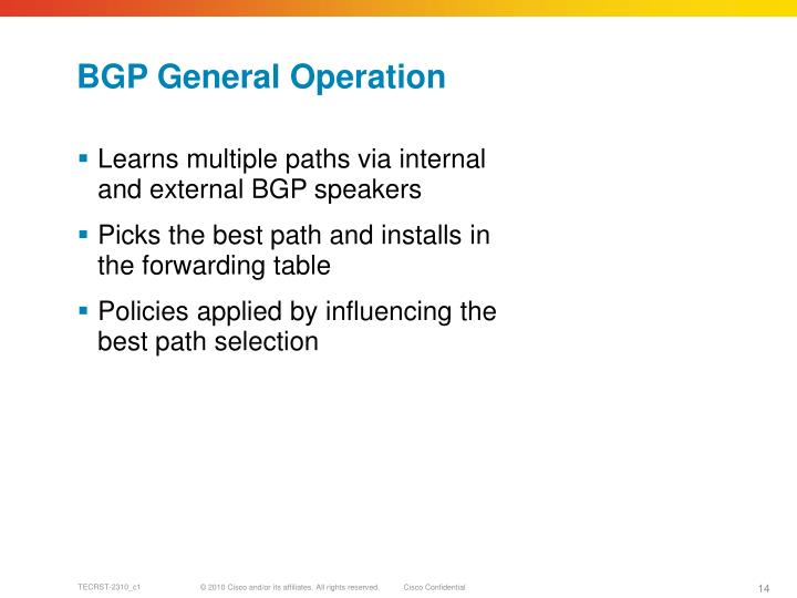 BGP General Operation